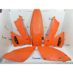 PLASTICHE CARENE PLASTIC KIT KTM EXC 250 EXC 450 2002 2004